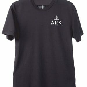 Men's ARK logo t-shirt front black