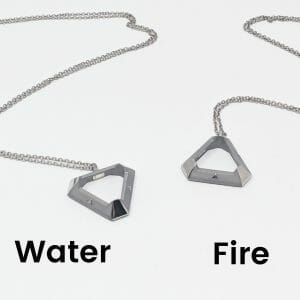 both triangle pendant options