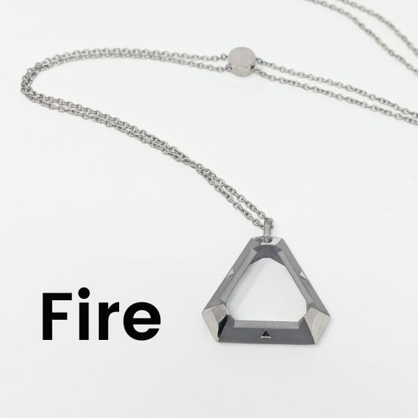 triangle pendant in fire style