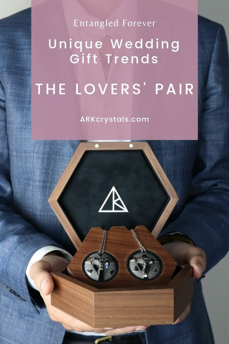 Entangled forever unique wedding gift trends the lovers pair