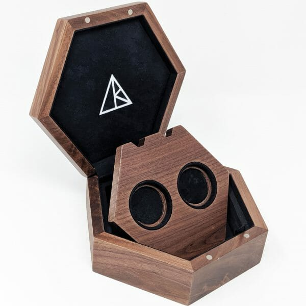 double wooden pendant display box