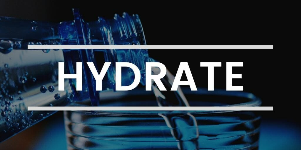 Hydrate to decrease stress
