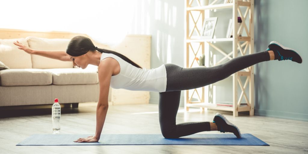 working out at home - yoga