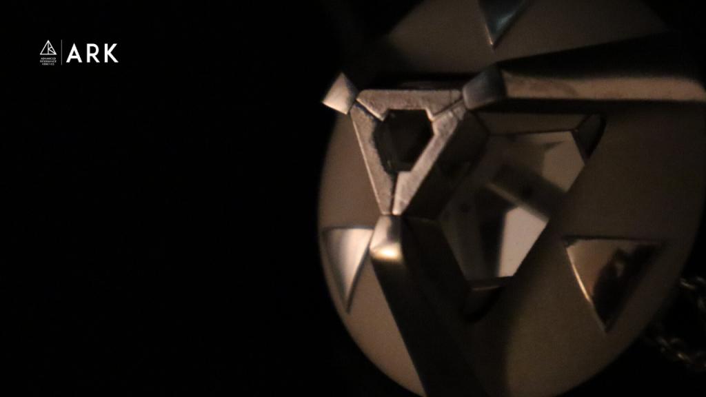 ARK crystal in the Classic Pendant Closeup