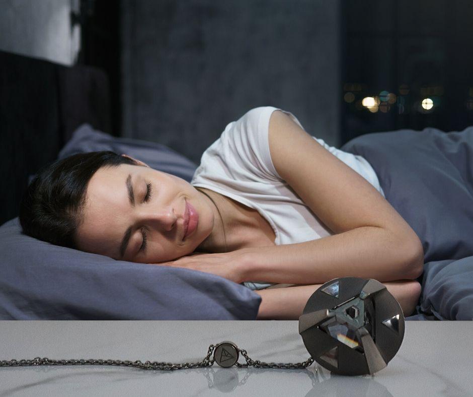 woman in bed sleeping ARK crystal
